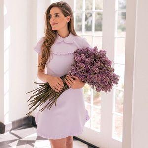 NWT Gal Meets Glam Emma purple lilac ruffle dress